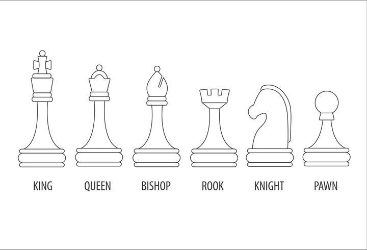 ensemble de pièces d'échecs vecteur