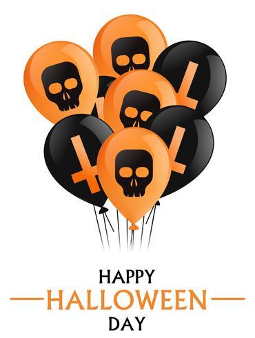 Bonne fête d'halloween vecteur