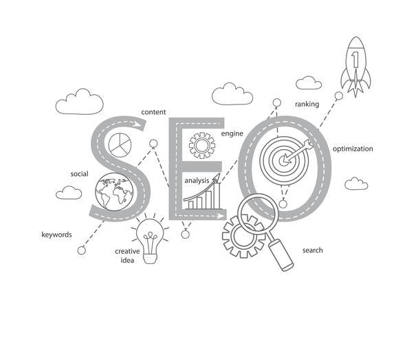 processus d'optimisation de la recherche Internet de succès vecteur