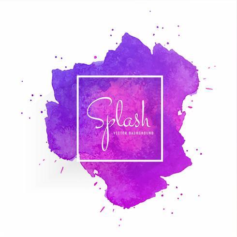 Tache aquarelle abstraite avec motif coloré splash vecteur