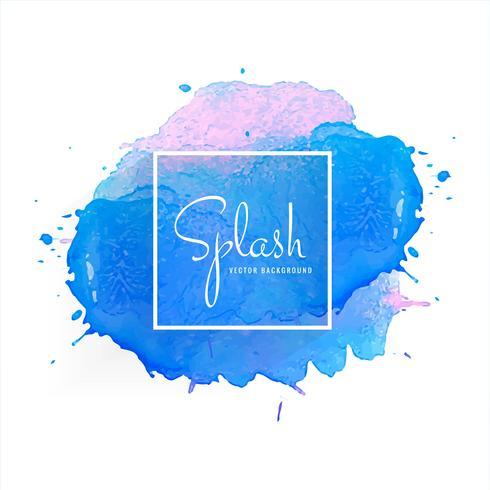 Main abstraite dessiné aquarelle splash coloré vecteur