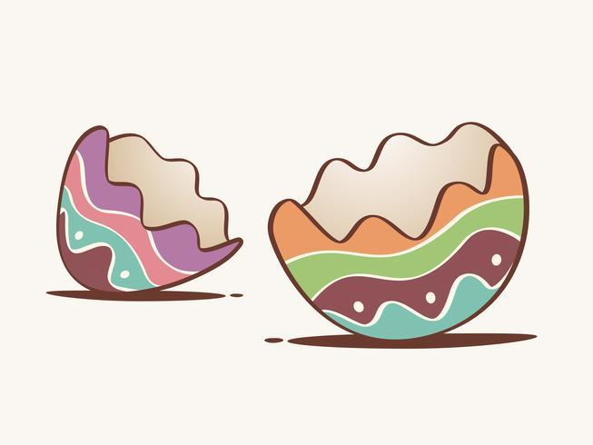 Coquille d'œuf fêlée vecteur