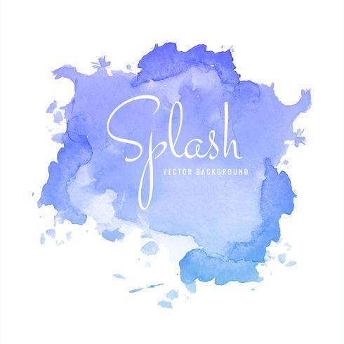 Aquarelle multicolore splash blot vecteur