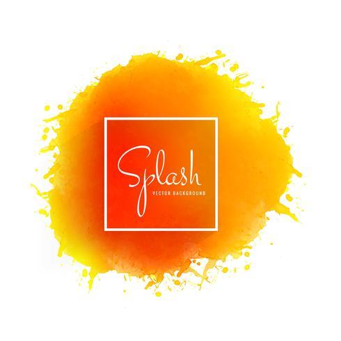 Splash aquarelle douce coloré dessiné à la main vecteur