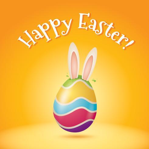 le lapin de Pâques arrive bientôt! vecteur