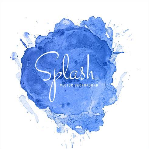 Beau bleu aquarelle Splash Design vecteur