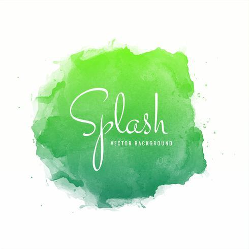 Splash coloré aquarelle vecteur