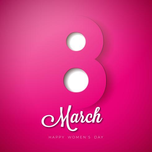 8 mars Journée de la femme vecteur