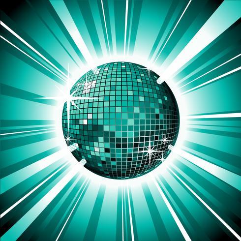 boule disco brillante vecteur