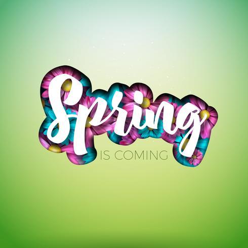 Design nature printemps vecteur