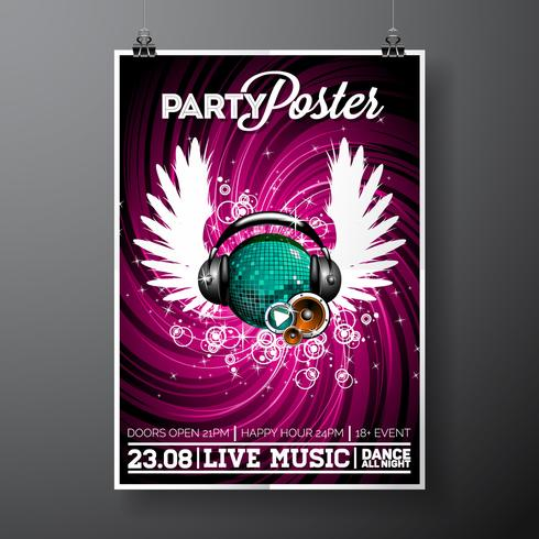 Illustration flyer fête vecteur