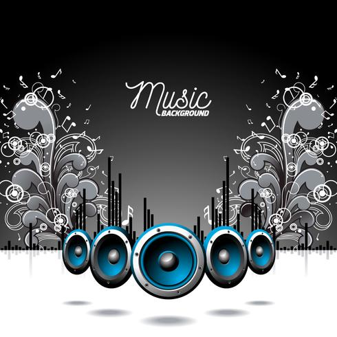 Illustration du thème musical vecteur