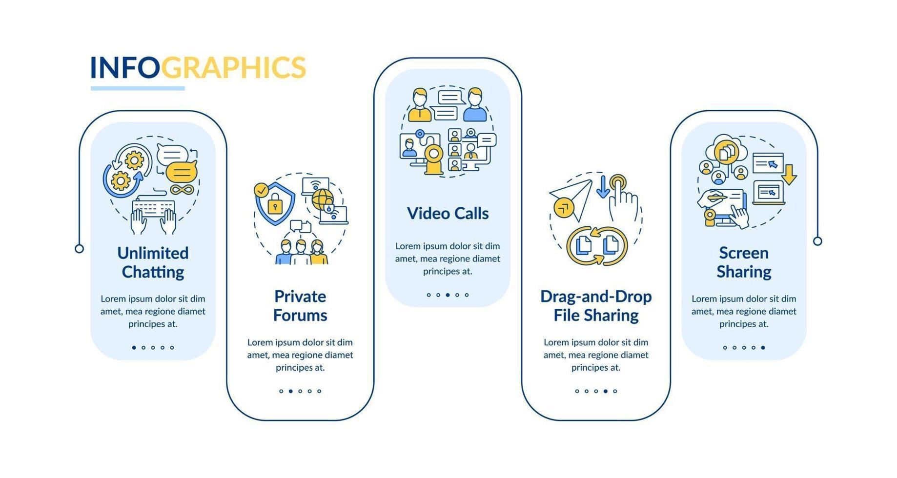 modèle d'infographie vectorielle d'option de messagerie d ...