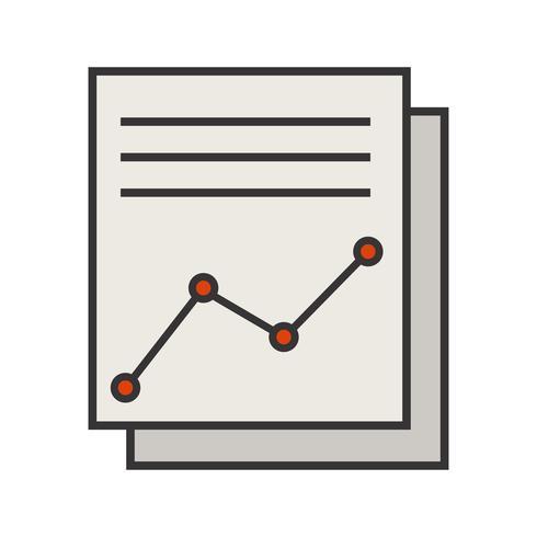 Ligne remplie icône vecteur