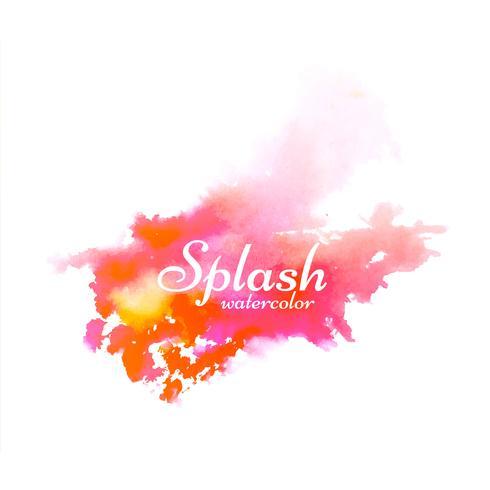 Dessin abstrait coloré aquarelle splash vecteur