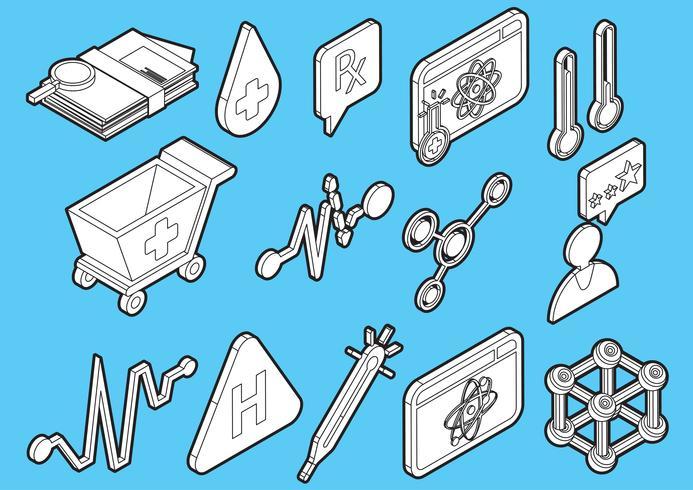 illustration du concept d'icônes graphique hôpital info vecteur