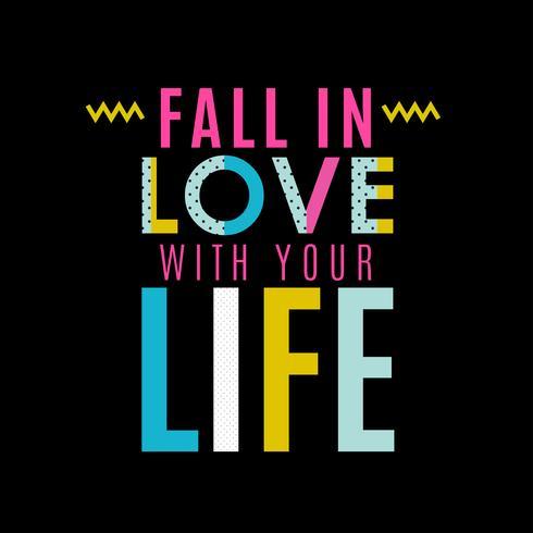Tombez amoureux de votre vie vecteur