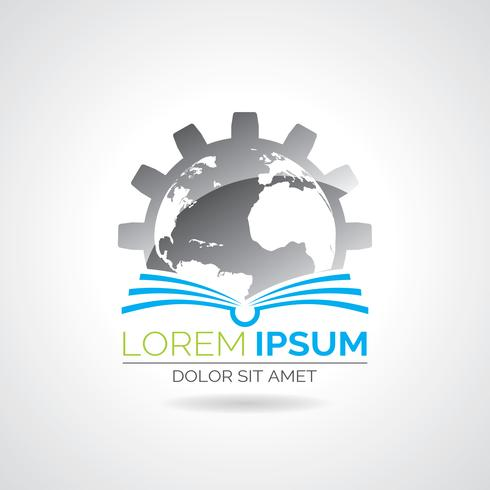Illustration du logo livre vectoriel. vecteur