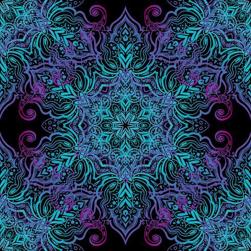 Modèle sans couture de Mandala vecteur