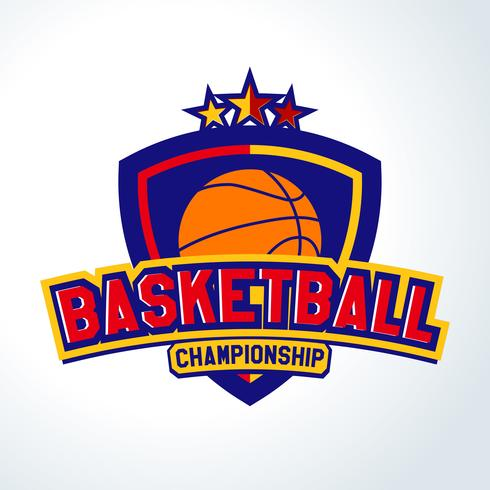 Logo de basket-ball, modèles de sport T-shirt vecteur