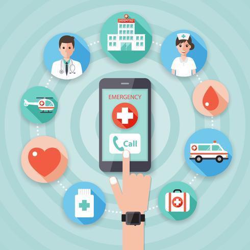 Concept médical et hospitalier vecteur