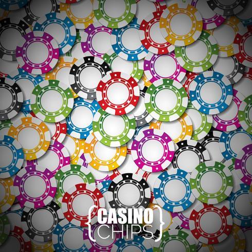 Illustration vectorielle sur un thème de casino avec des jetons de couleur. vecteur