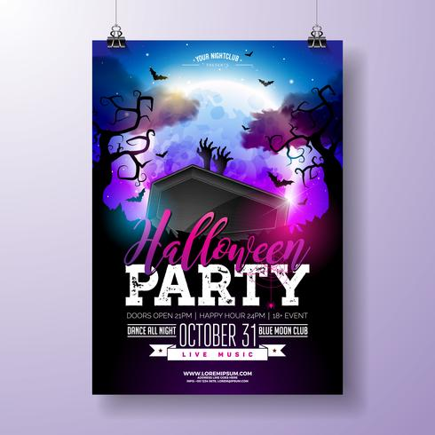 Illustration vectorielle de Halloween Party flyer vecteur