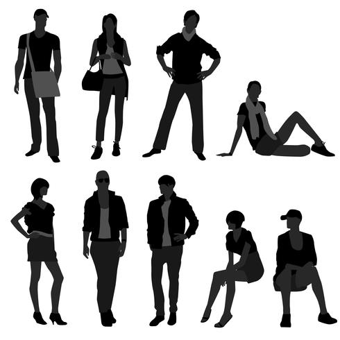 Homme / Homme, Femme / Femme Mannequin Shopping. vecteur