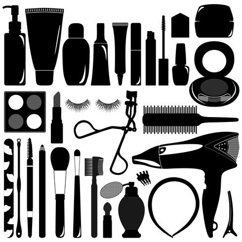 Produits de maquillage et cosmétiques. vecteur