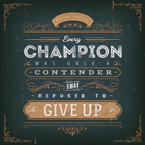 Affiche de devis de motivation commerciale et sportive vecteur