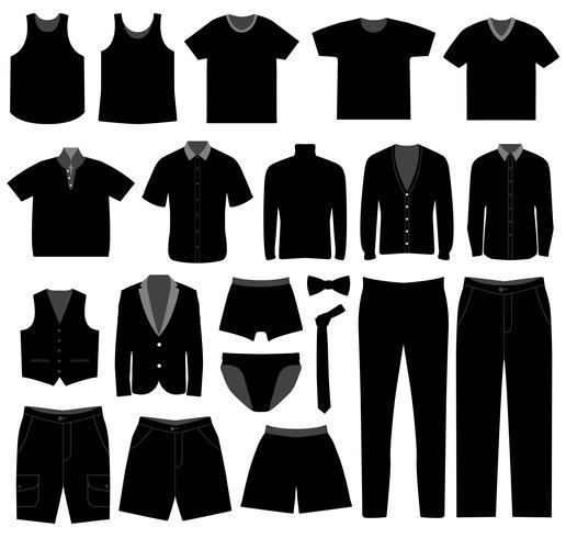 Vêtements pour hommes. vecteur