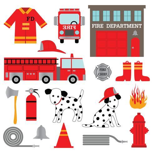 pompier clipart vecteur