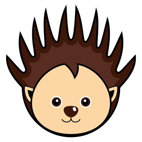 Vecteur de Porcupine mignon.
