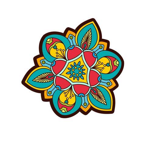 Pivoine ornementale, fleur rose avec un œil de providence. vecteur