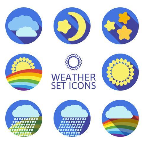 Ensemble d'icônes pour la météo. vecteur