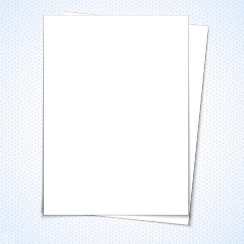 Flyer blanc vierge stationnaire vecteur