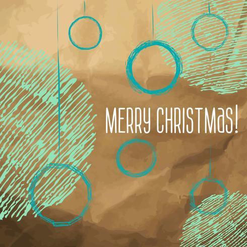 Croquis de style dessiné à la main de boules de Noël vecteur