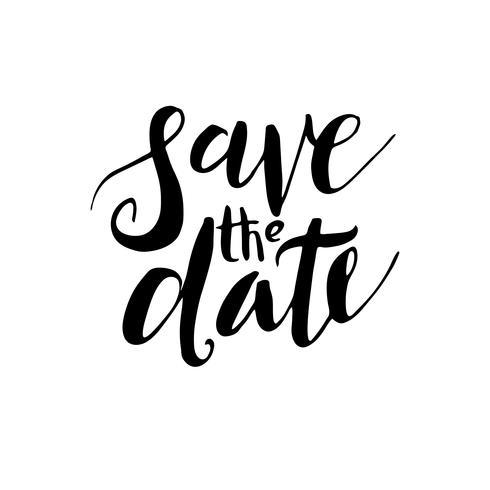 Réservez la date, invitations de mariage. vecteur