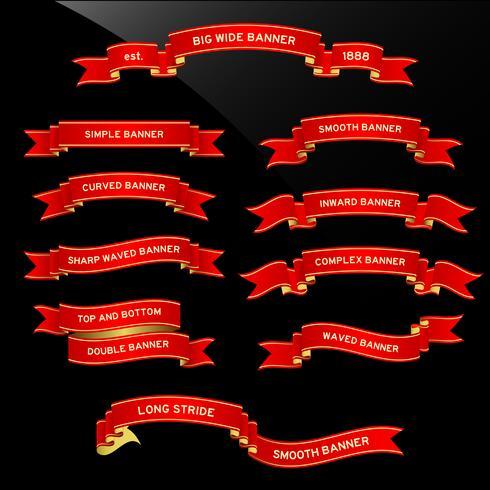 Bannière ruban de défilement. vecteur