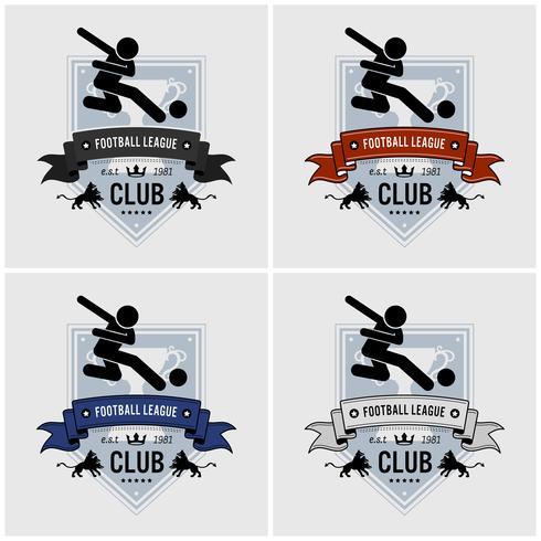 Création de logo de club d'équipe de football. vecteur