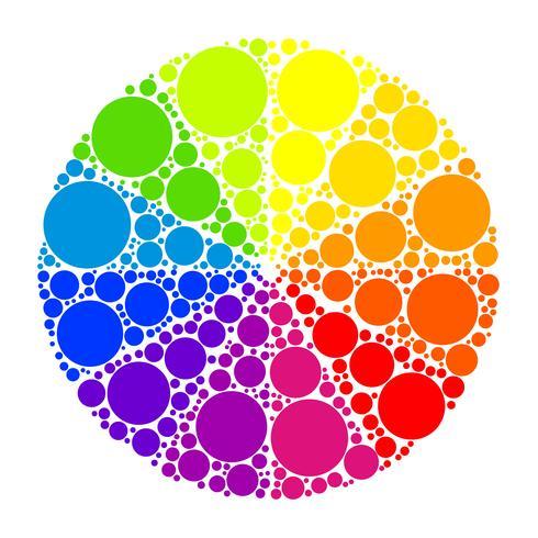 Roue chromatique ou cercle de couleur vecteur