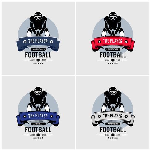 Création du logo du club de football américain. vecteur