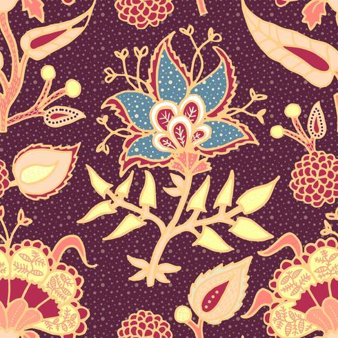 Ornement de paisley Indian National pour le coton, les tissus de lin vecteur