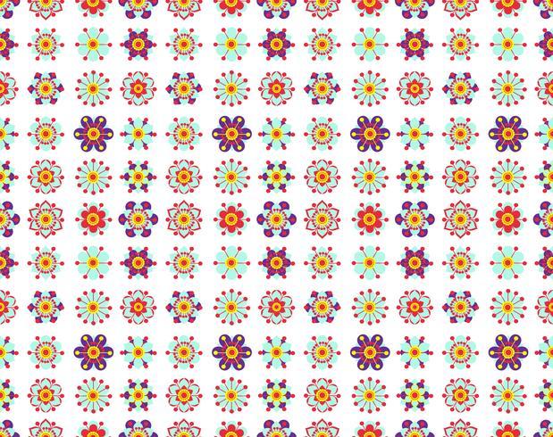 Modèle sans couture de fleurs jaunes vintage. vecteur