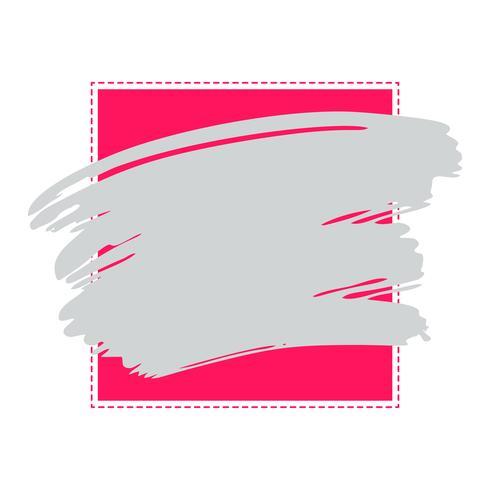 Grunge Vector abstract frame aquarelle couleur brosse peinture trait rayé élément