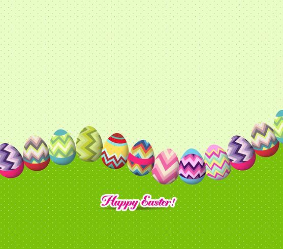 oeufs de Pâques et fond de lapin vecteur