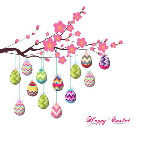 Printemps Pâques fond avec oeuf vecteur