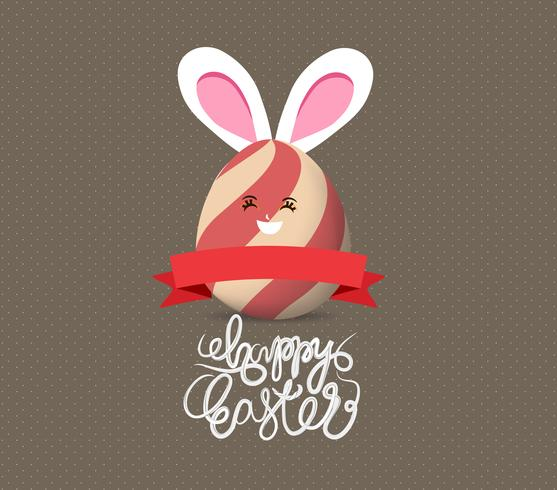 Joyeuses Pâques avec oeuf vecteur