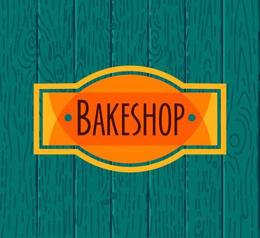 Collection de boulangerie rétro vintage vecteur