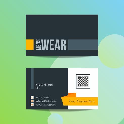 Modèle de conception de carte de visite professionnelle vecteur